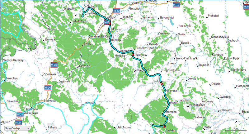 Day 11 - June 16 - Route
