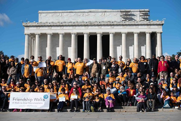 Friendship Walks to end homelessness in DC on Nov. 3, 2018
