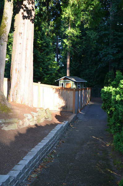 Pathway along property to Alexander Bell Elementary School.