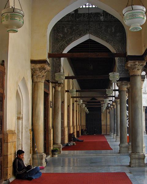 entrance into the al-azhar mosque