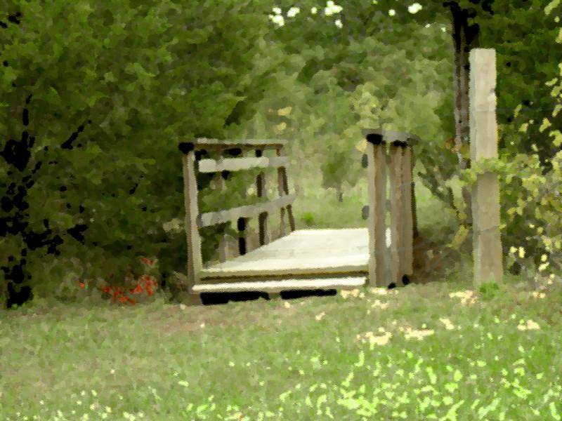 Walking Bridge enhanced (underpainting)