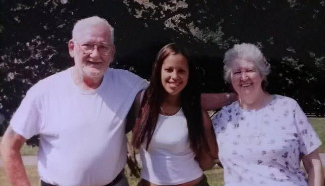 Description of . Marylee Tyson with grandparents Robert DeWinkeleer Sr. and Heddy DeWinkeleer. Marylee writes in an email,
