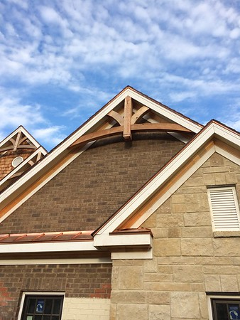 Gable Bracket 43 with 6x6 king post Rough Finish