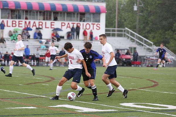 Albemarle versus Western boys soccer 2017