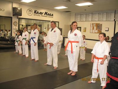 4-24-2009 Color Belt Testing