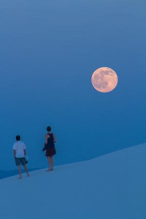 Full Moonrise over White Sands