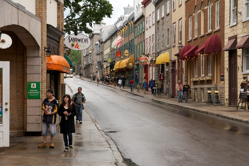 Rue Saint Louis. Quebec City, Canada.