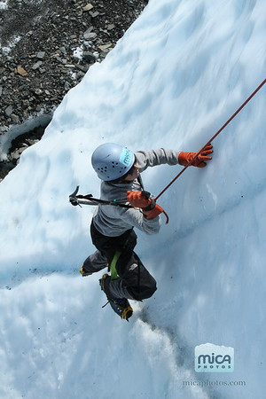 Ice Climbing with Chris and Becca