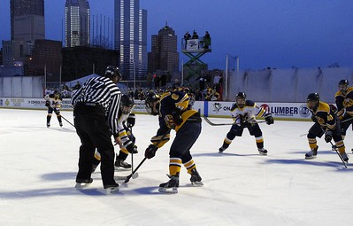 Hockey at the Penguins Pond