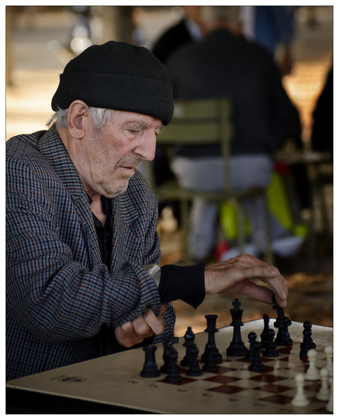 Chess player in Luxembourg Garden