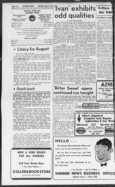 Summer News, Vol. 2, No. 18, August 04, 1947
