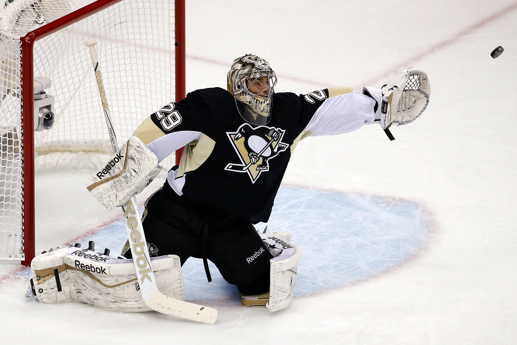 . <b>Marc-Andre Fleury (Pittsburgh Penguins goalie)</b>