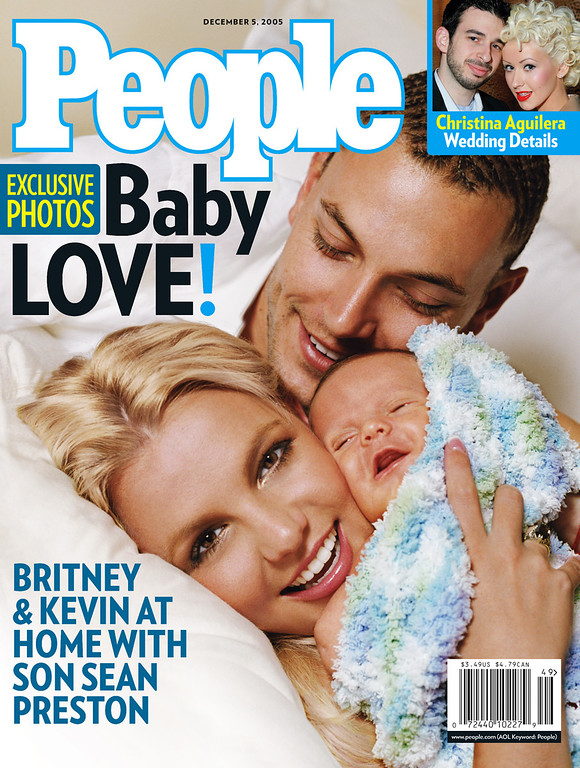 . In this handout photo provided by People Magazine, Britney Spears poses with her husband Kevin Federline and their son Sean Preston on the Dec. 5, 2005 issue, which goes on sale Friday, Nov. 25, 2005. Sean Preston, born Sept. 14, is the first child for the pop star and her husband. Federline, 27, has two children with ex-girlfriend Shar Jackson. (AP Photo/PEOPLE Magazine, Mark Liddell)