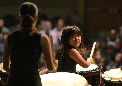 Taiko Drumming in celebration of International Education Week