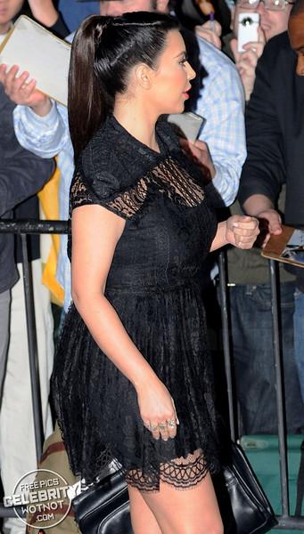 Kim Kardashian In High-Waisted LBD In Los Angeles