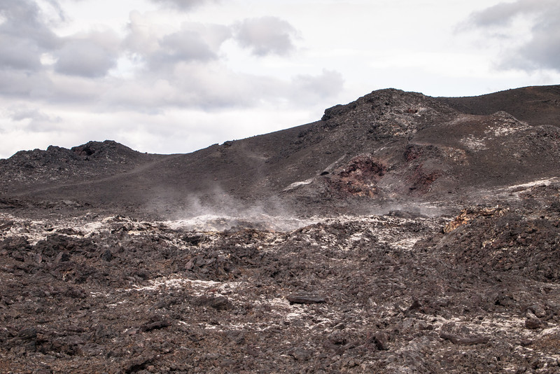 More fumaroles and deep fissures