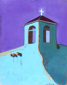 Mission Bell Tower- pastel   SOLD