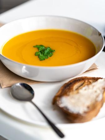 Delicious Pumpkin Soup from Meet Gerard
