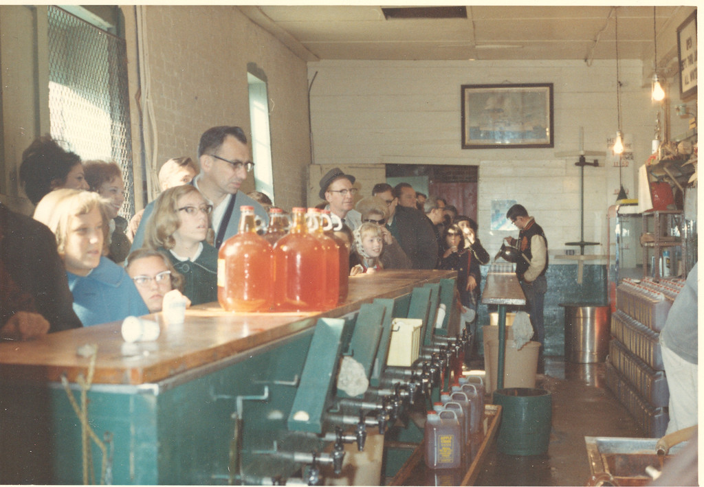 . Customers line up to buy cider and other goodies at Yates Cider Mill in 1966. (Photos courtesy of Yates Cider Mill)