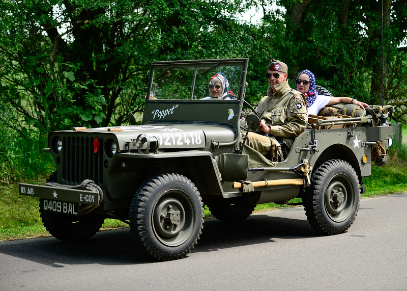 Jeep near the American Cemetery at Colleville Sur Mur