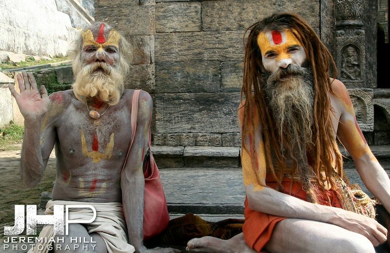 """Two Saddhus"", Pasputinath, Nepal, 2007 Print IND31106-169"
