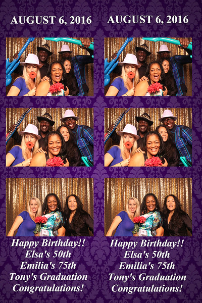 Elsa's 50th, Emilia's 75th, Tony's Graduation Celebration  |  08.06.16
