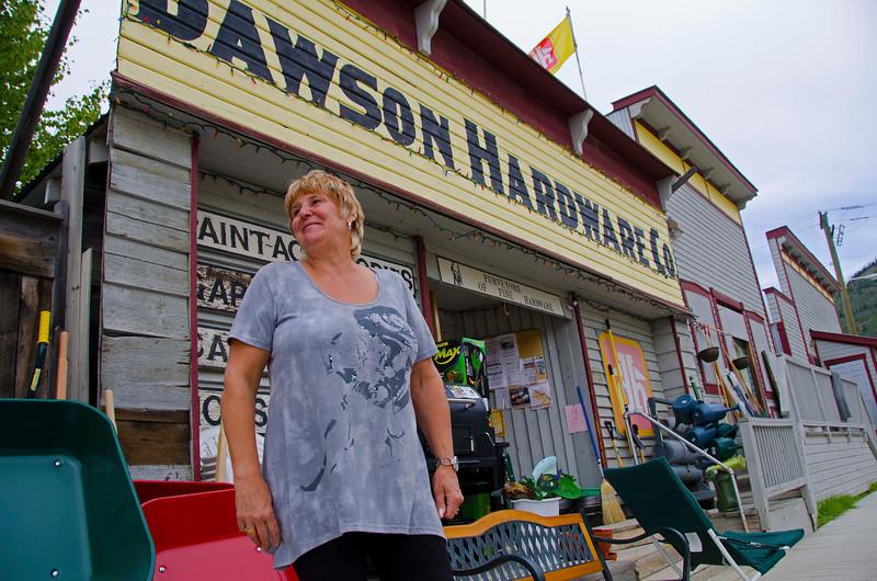 Susan Herrmann, hardware store owner, Dawson City, YT.