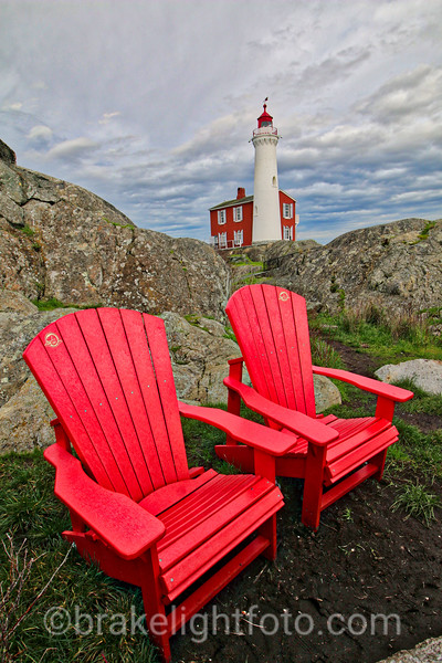 Canada Parks Red Chairs at Fisgard Lighthouse
