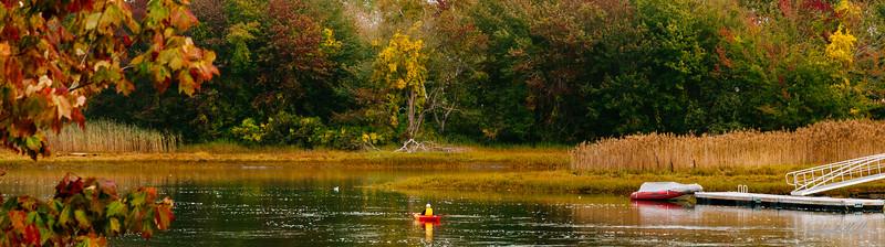 Solitary Kayaker enjoying a fall day