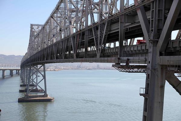 Oakland Bay Bridge-Old & New