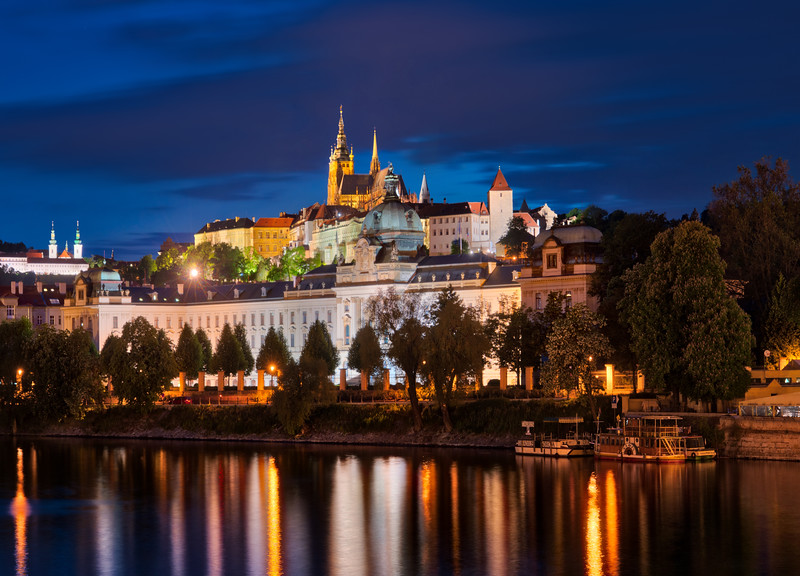 Prague from the River at Night