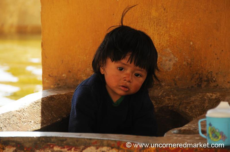 Guatemalan Kid, Alfalfa Hair - Antigua, Guatemala
