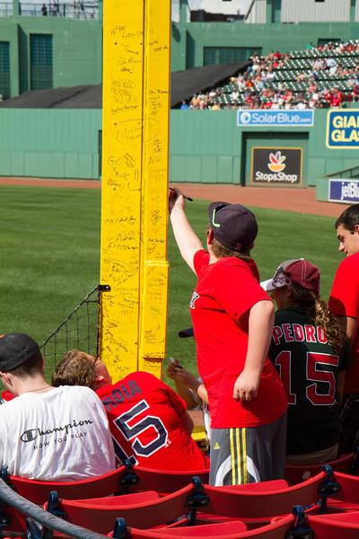 Signing Pesky's Pole