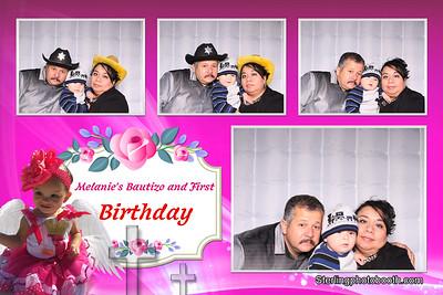 Melanie's Bautizo and 1St Birthday