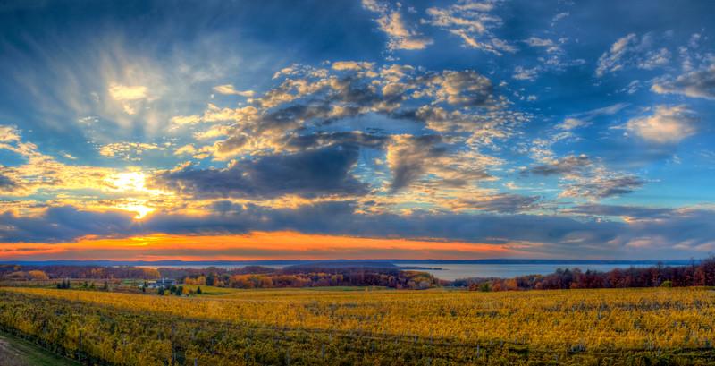 Evening Sky over Old Mission Vineyard