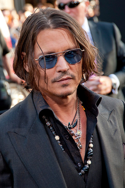 HOLLYWOOD, CA - MAY 07: Actor Johnny Depp arrives at the Los Angeles premiere of 'Dark Shadows' held at Grauman's Chinese Theatre on May 7, 2012 in Hollywood, California. (Photo by Tom Sorensen/Moovieboy Pictures)