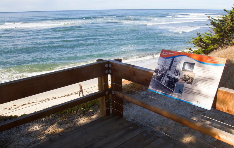 NEW STAIRWAY AT MOSS BEACH