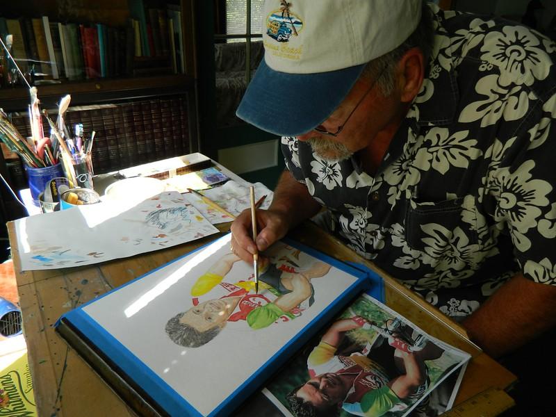 A6-Bernard Hinault, 1986 Tour de France, 11x15, watercolor & graphite pencil, aug 25, 2015.DSCN0781.jpg
