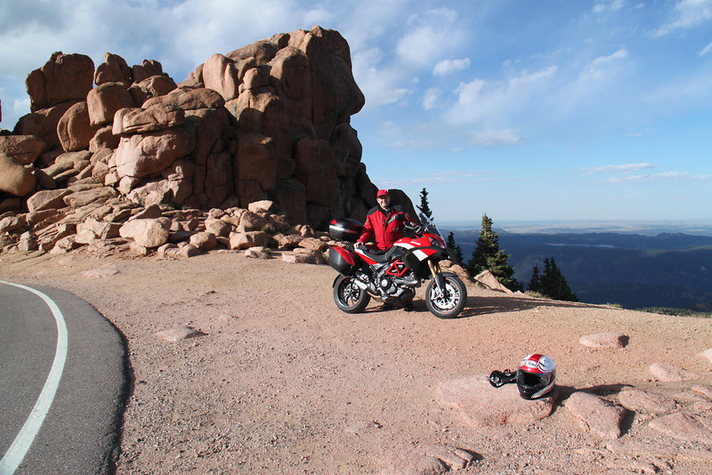 5/6 - Photo by Multistrada 1200 PP owner and ducati.ms forum member 'Duc PP' (aka Greg) - 9/10th's the way up Likes Peak