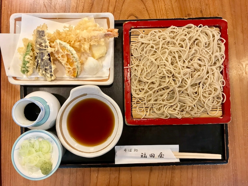 Tenseiro soba at Fukudaya.