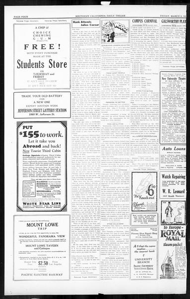 Daily Trojan, Vol. 16, No. 63, March 06, 1925