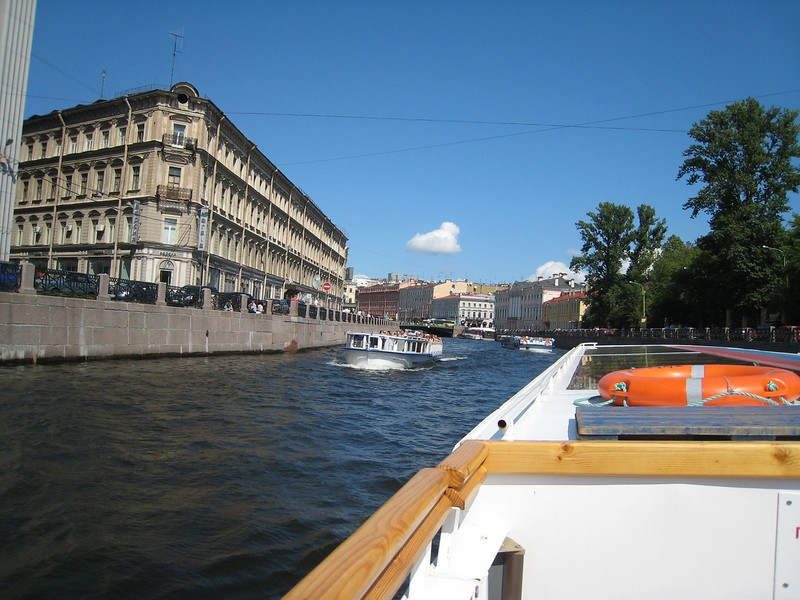 Cruising the Canals in St. Petersburg