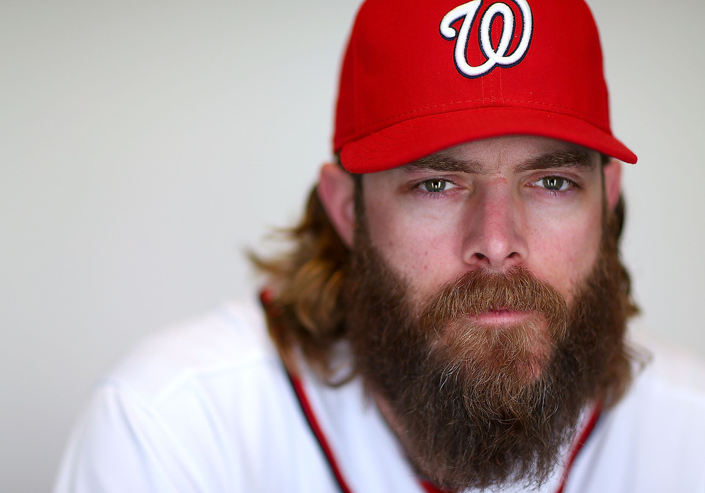 . VIERA, FL - FEBRUARY 20:  Jayson Werth #28 of the Washington Nationals poses for a portrait during photo day at Space Coast Stadium on February 20, 2013 in Viera, Florida.  (Photo by Mike Ehrmann/Getty Images)