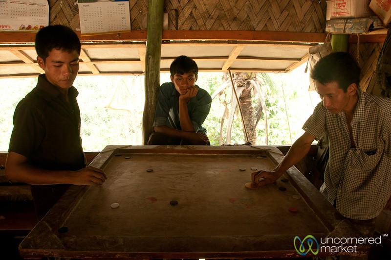Men Playing Games at Cafe - Bandarban, Bangladesh