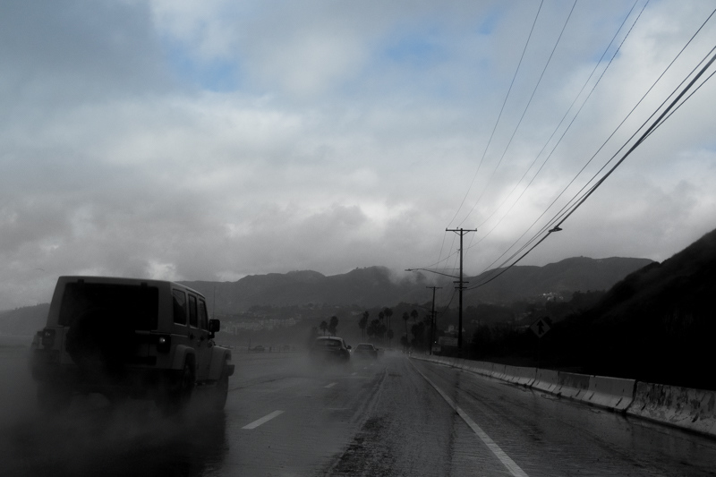 November 27 - Pacific Coast Highway, Santa Monica, CA on this year's first rainy fall day.jpg