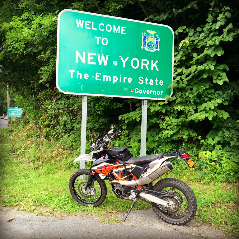 New York Sign - KTM 690 Enduro
