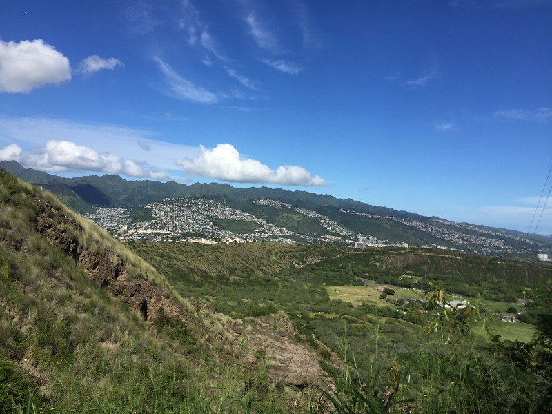 Awesome views from our hike up to the top