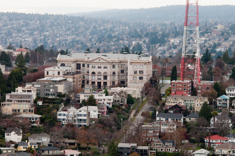 The Old Queen Anne HS, From The Space Needle