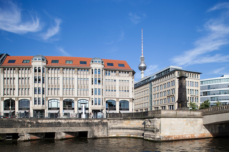 THEOLOGISCHE FAKULTÄT building from the Spree river, Berlin, Germany