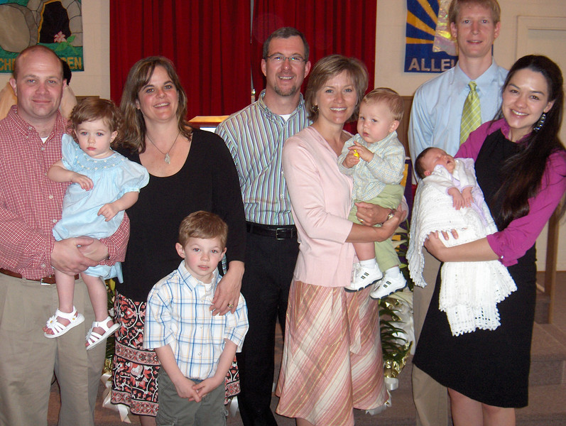 Steve & Neta Davis dedicate Chloe & Zachary, Bob & Anita Messier dedicate Mitchell, Mike & Annie Neeley dedicate Emma to God